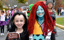 Children celebrating Halloween at the parade.